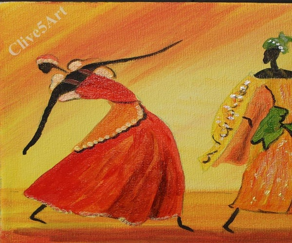 A Fun Easy Relaxed Painting Easy Dancing African Girls