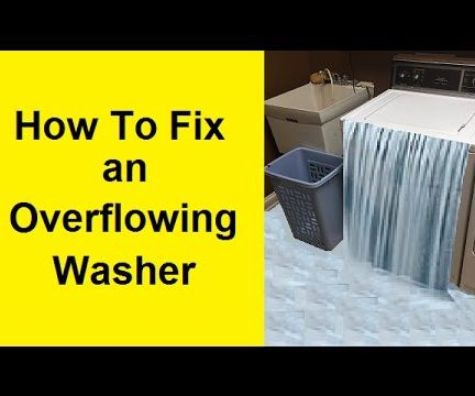 How to Fix an Overflowing Washer