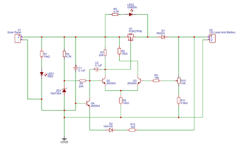 About This Solar Charger Circuit