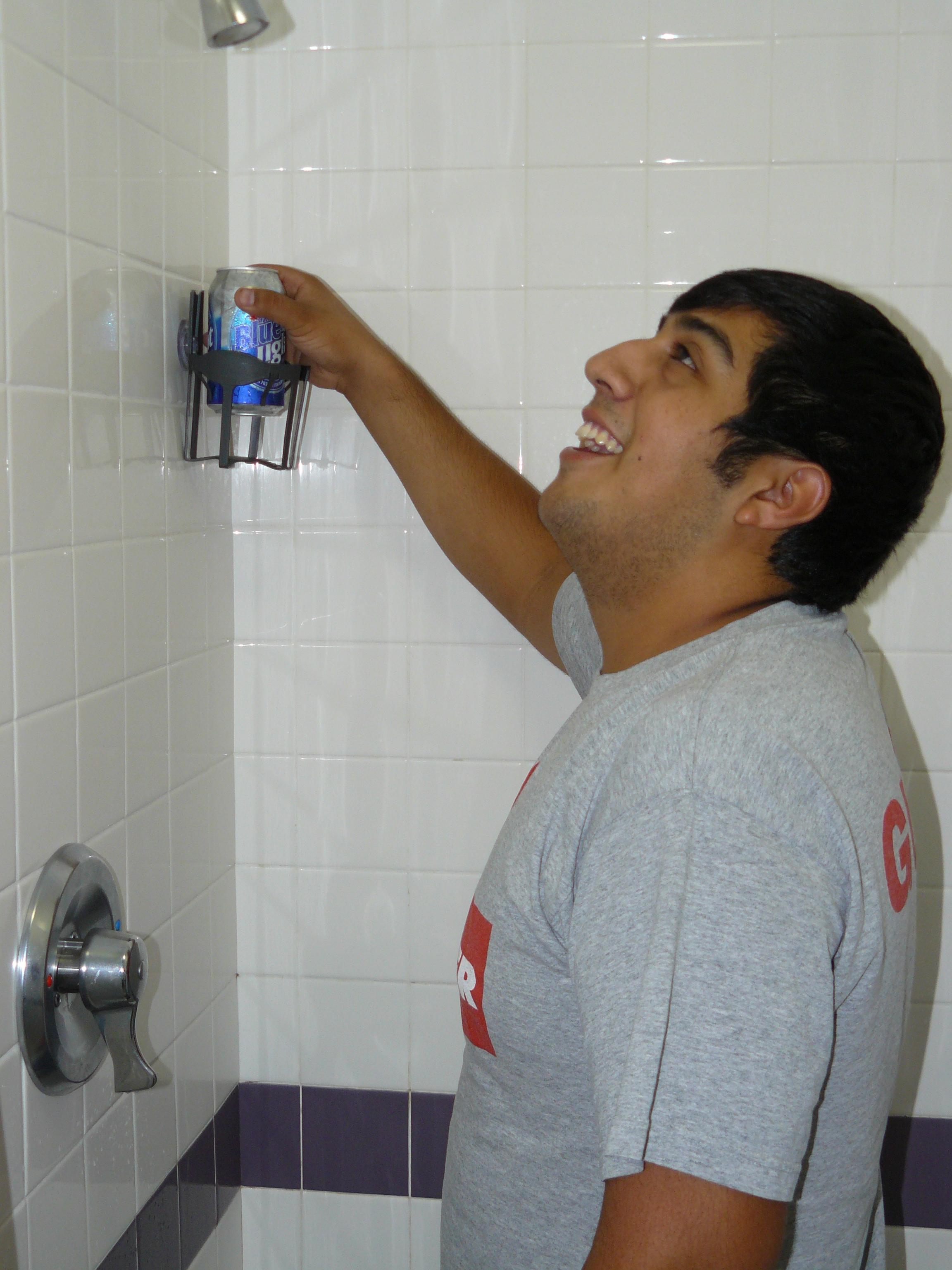 Beer Holder for the Shower