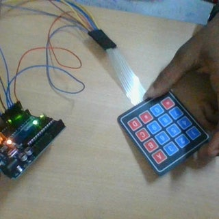 Connecting a 4 X 4 Membrane Keypad to an Arduino
