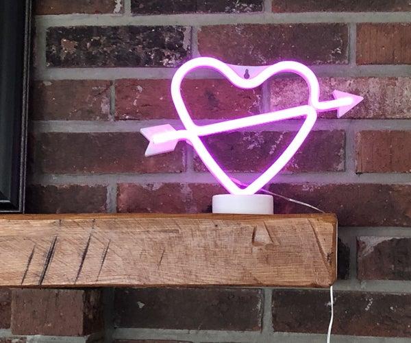 Internet Neon LED Heart Light