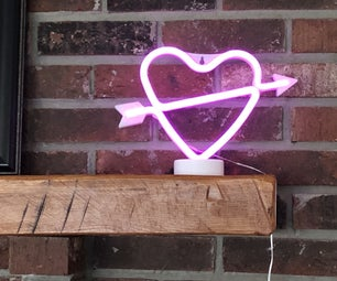 Internet Neon LED Heart Light