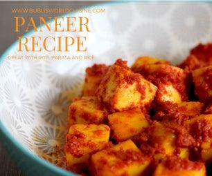 5 Minute Paneer Recipe