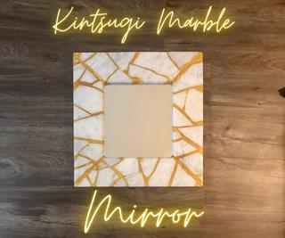 Kintsugi Marble X Resin Mirror