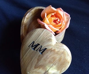 Mother's Day Curved Top Heart Shaped Jewelry Box by CNC