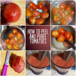 Removing Tomato Skin by Blanching