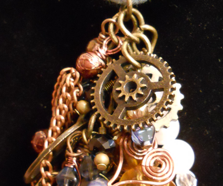 Steampunk Collage Necklace
