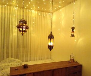 舒适的卧室照明(带无形布线的LED灯笼)
