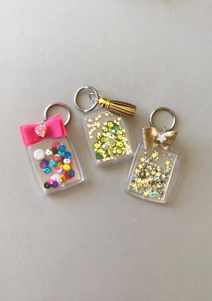 DIY Confetti Keychain