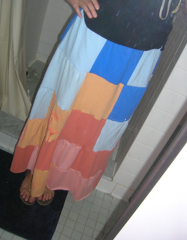 Skirt From Recycled T-Shirts
