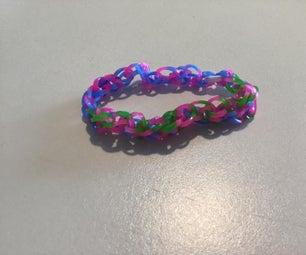 Rainbow Loom Taffy Braid Bracelet