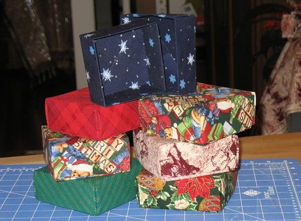 Make Fabric Gift Boxes