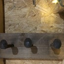 Rustic Railroad Spike Coat Rack
