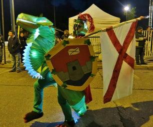 Glowing Dragon Rider Costume / Disfraz De Jinete De Dragón Brillante