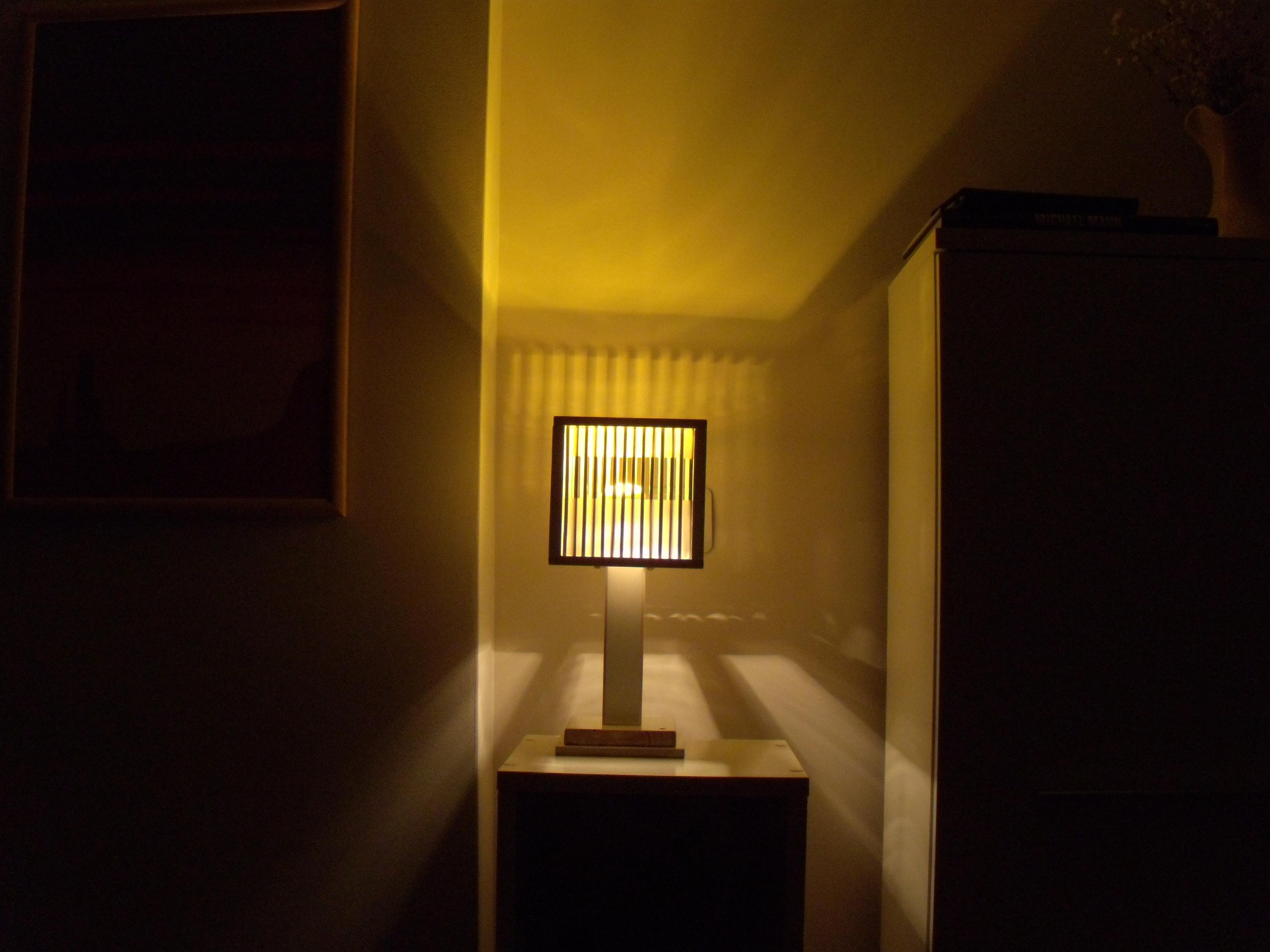 wood frame + chopstick lampshade