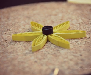 Quilling Flower Made Using a Comb