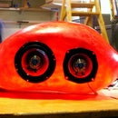 Soul Cycle Mothership, a molded fiberglass speaker cabinet for bicycles.