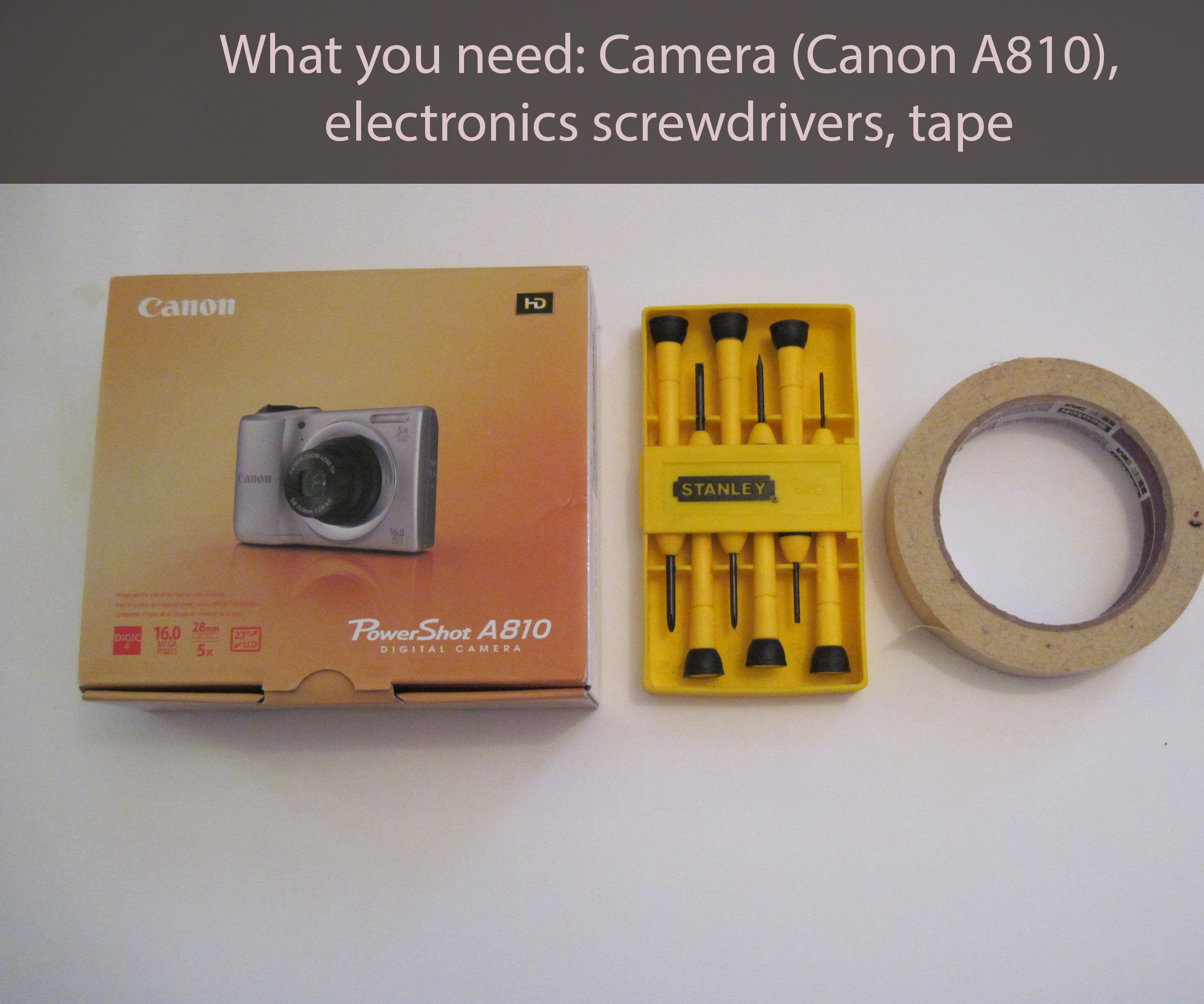 Infrared Camera Mod (Canon A810)