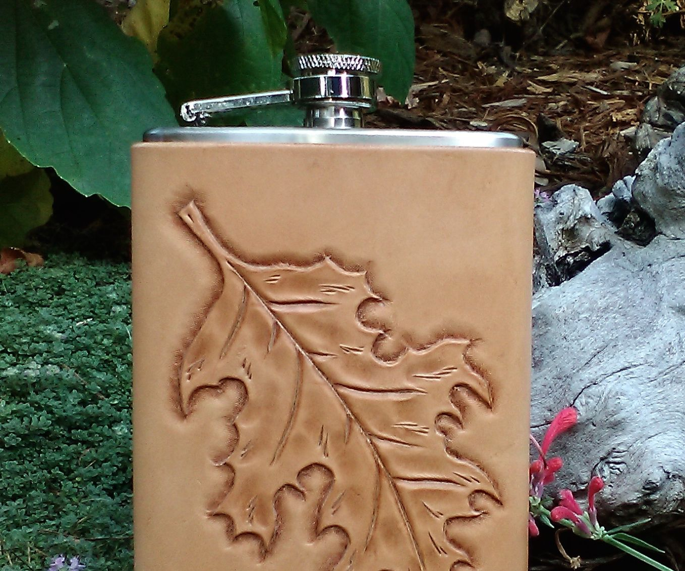 How to Make a No-Stitch Leather Flask Cover