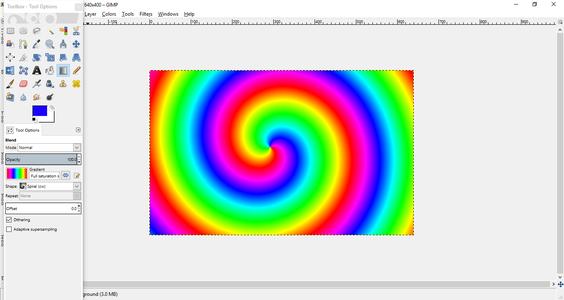 Create a Rainbow Spiral Using GIMP