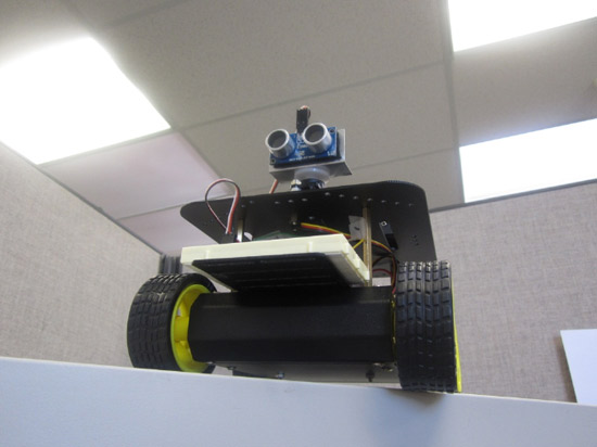 "Arduino 4wd robot with ping sensor ""J-Bot"""