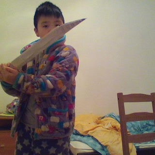 Paper Dagger With a Sheath