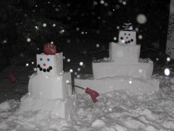 Square Snow-People