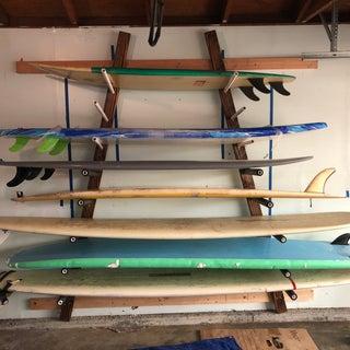 Wall Mounted Horizontal Surfboard Rack