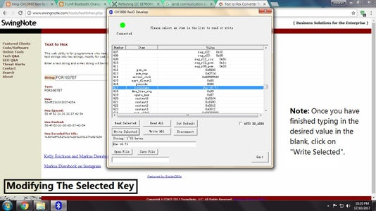 Changing the Values Using OVC3860 Tool