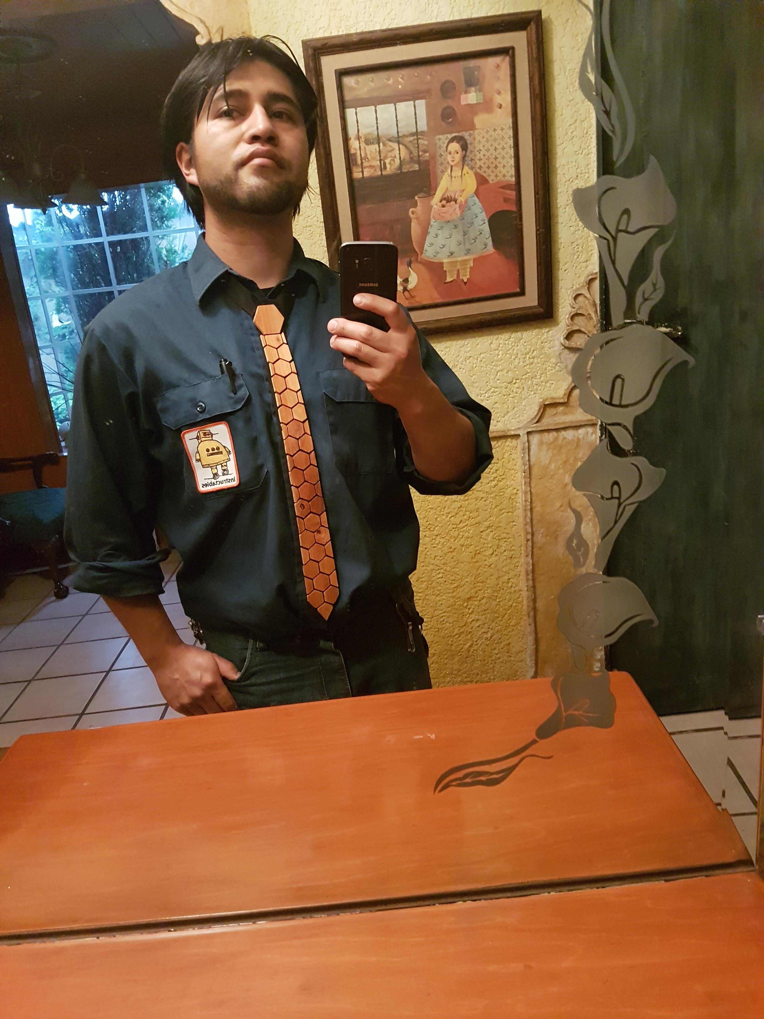 Honeycomb Wood Tie, Corbata de Madera