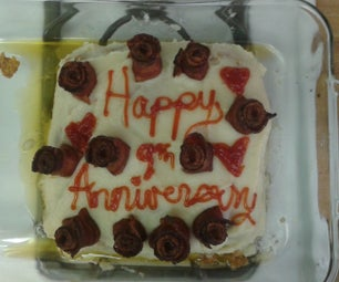 Anniversary Meat Cake With Bacon Roses