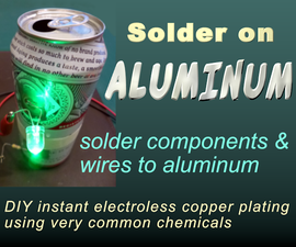 Solder Electronic Components on Aluminum