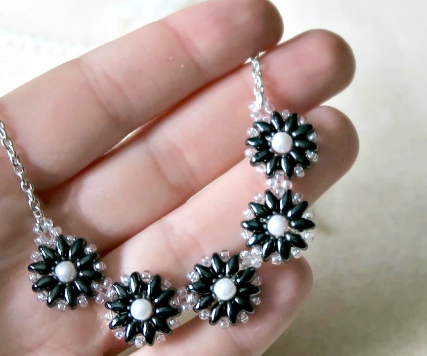 SuperDuo Flower Necklace
