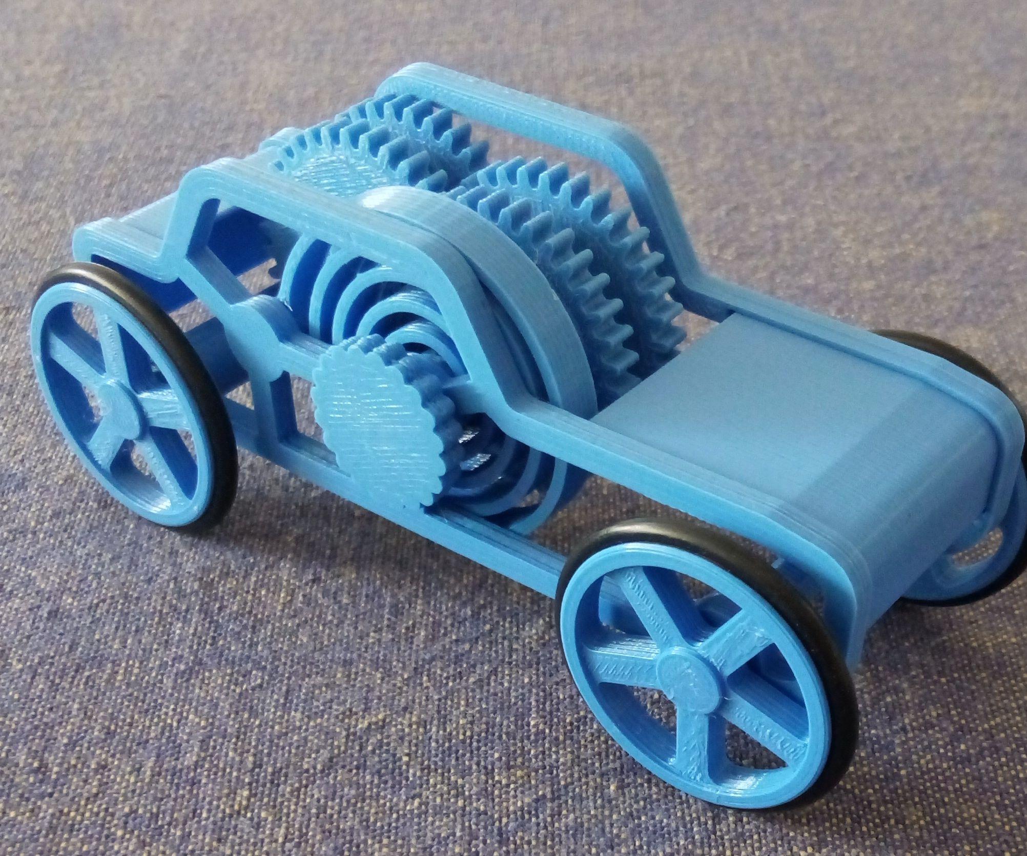 3D printed Car toy windup motor