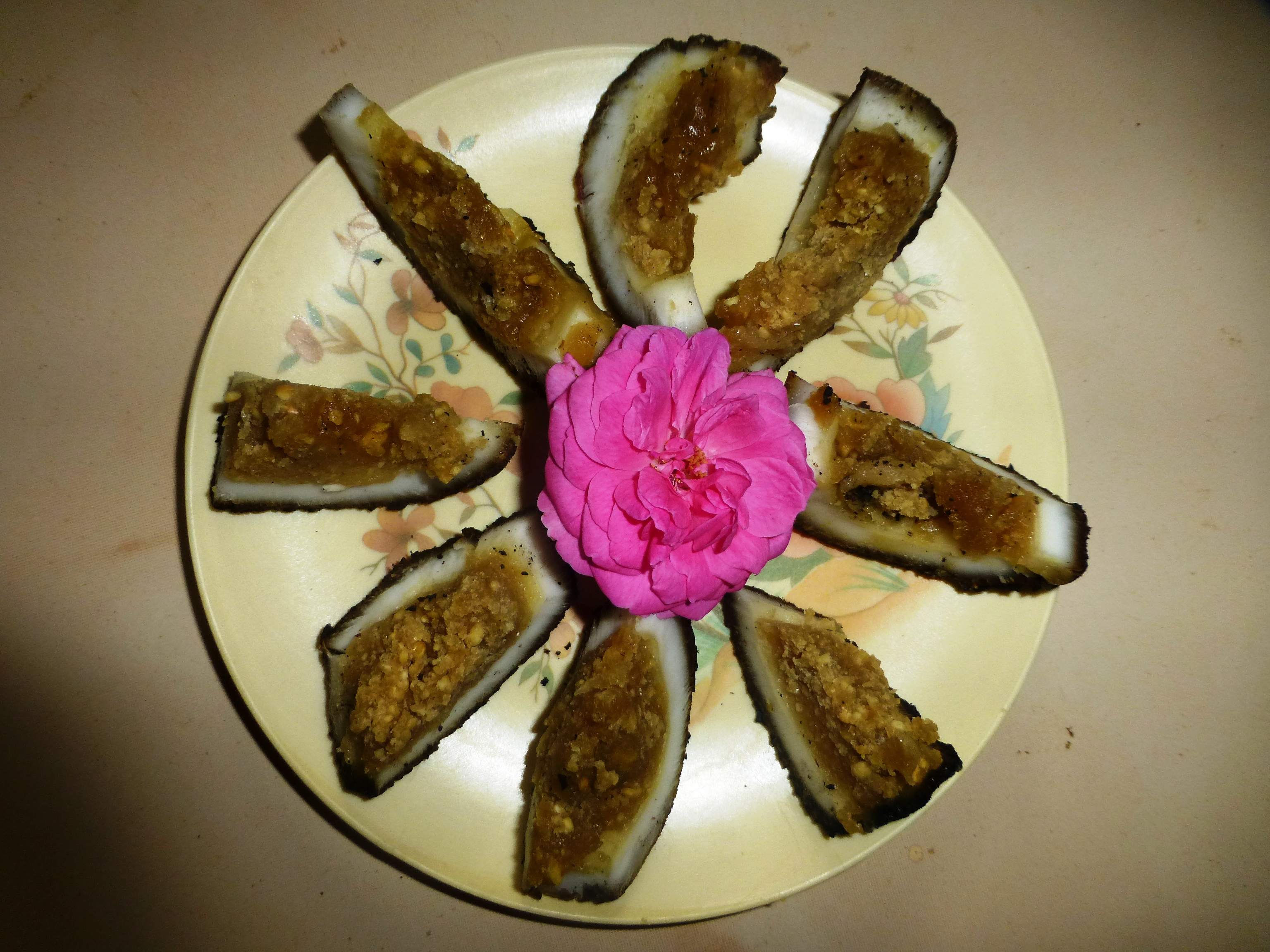 Barbecued Stuffed Coconut