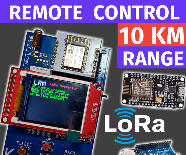 LoRa Based Remote Controller | Control Appliances From Large Distances
