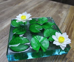 How to Make Water Lily Pond | Resin Art