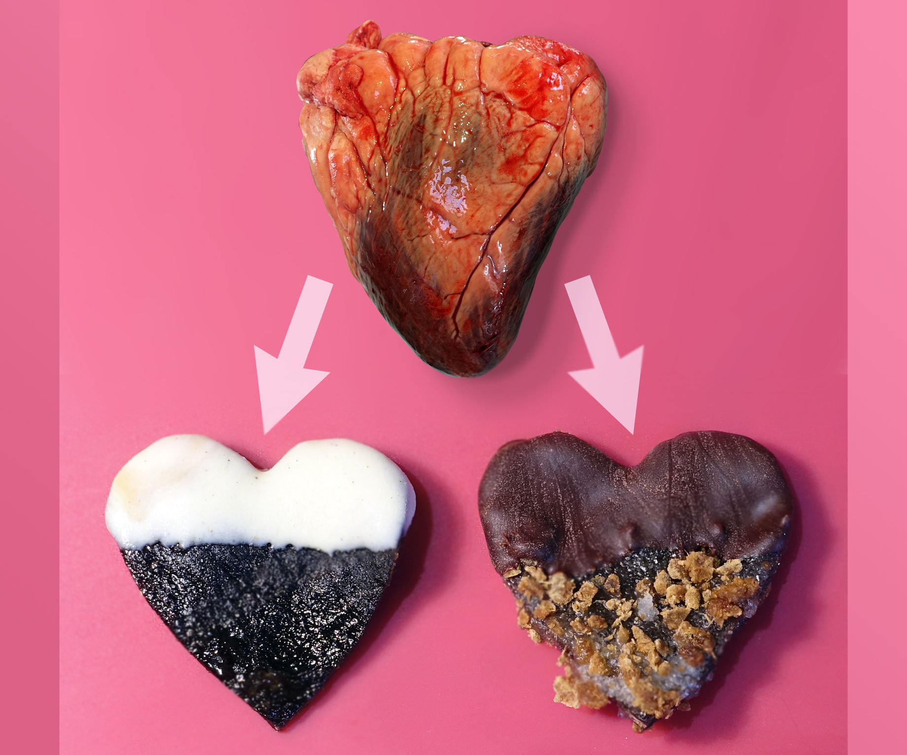 Candy Hearts (made with real heart)