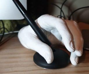 Wacom Pen Holder Hand AKA Making a Plaster Cast of Your Hand