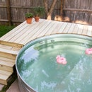 DIY Pool Deck With a Secret Hatch! How to Build a Deck for Your Stock Tank Pool