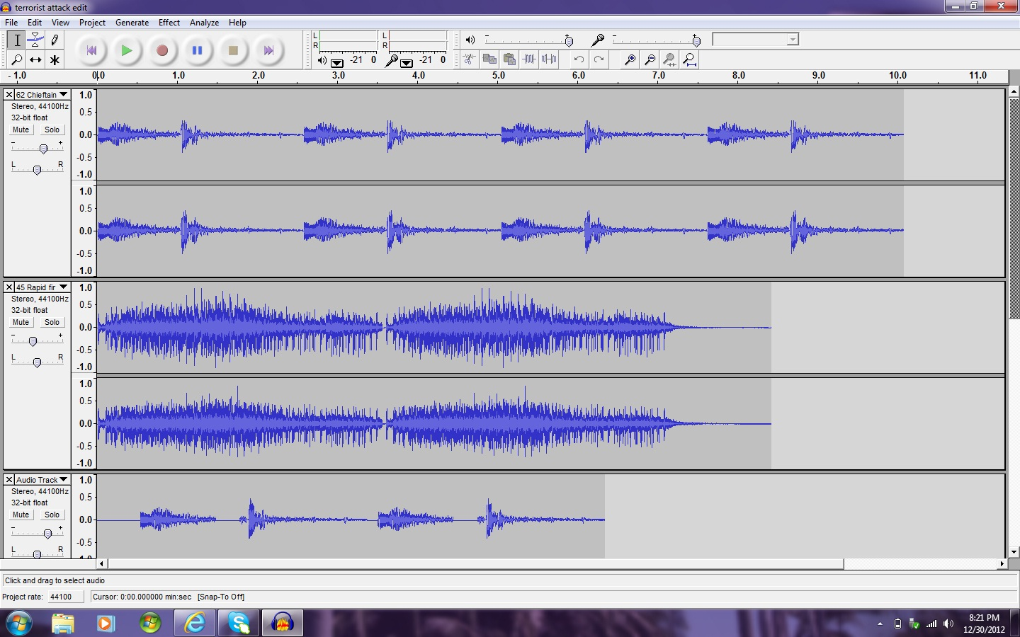 Basic recording and editing with Audacity