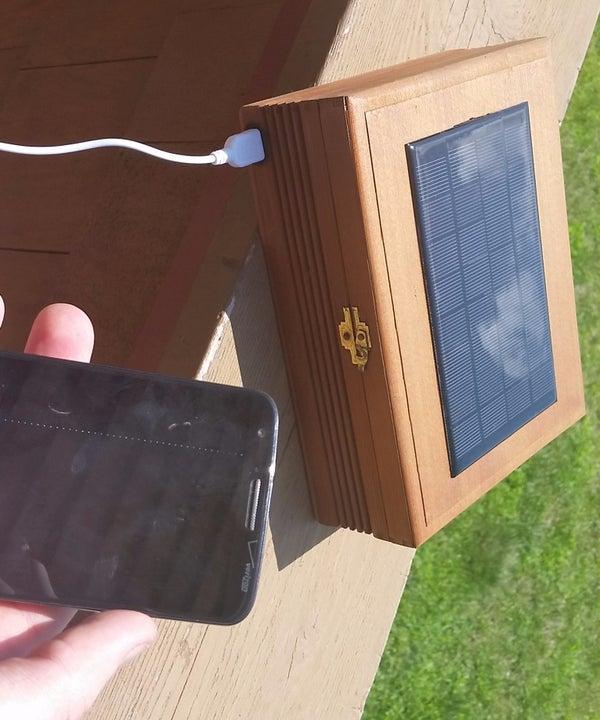 Portable Solar-Powered USB Charger/Cigar Box