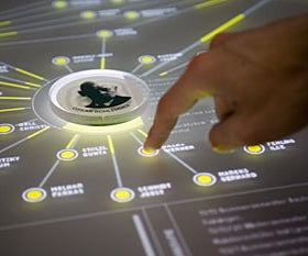 A Multi-Touch Table With an AI User Control Point