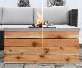 DIY Outdoor Table With Fire Pit OR Cooler!