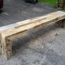 Awesome Pallet Wood TV Console - $35