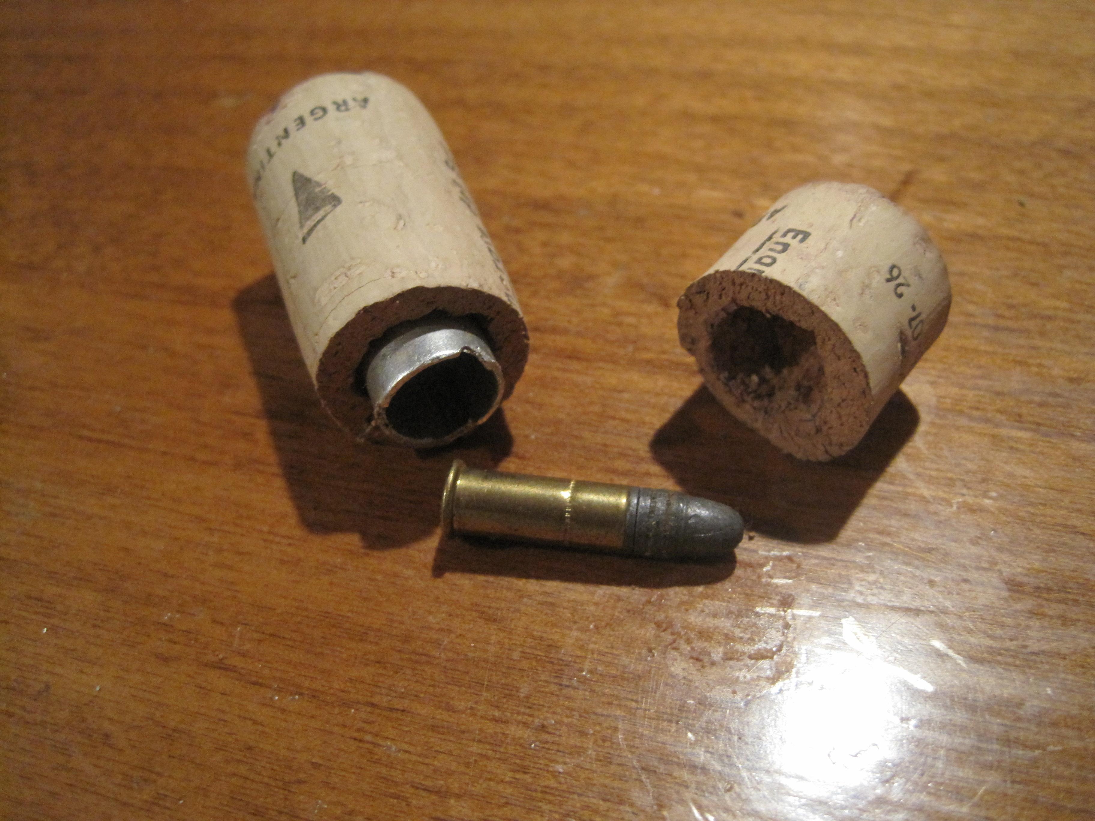 Wine cork hidden compartment