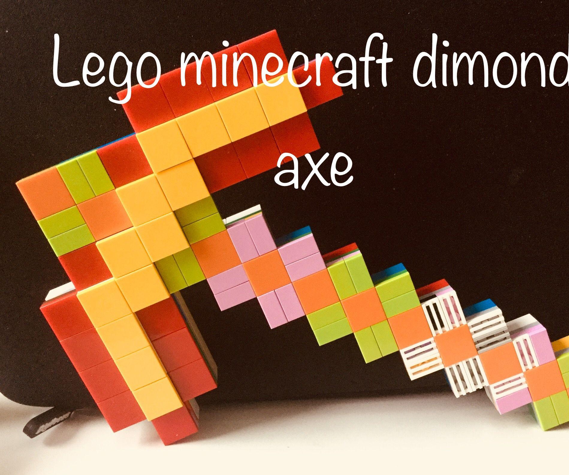 Lego Minecraft Diamond Pickaxe