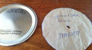 Create Pilot Hole Template for Jar Lids