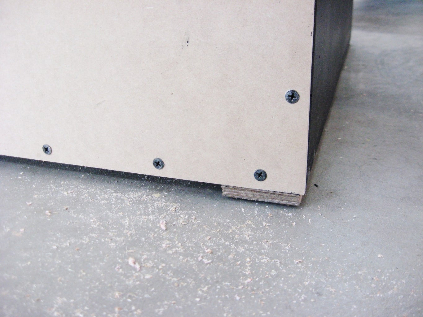 Position and Level Table Saw and Cabinet